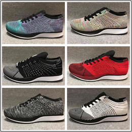 fcae1eef6 2018 Summer New Style Fly 2.0 Running Shoes For Men And Women Size 36-45  Black White Without Box discount men shoes without laces