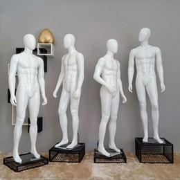 modelos de corpo inteiro Desconto Melhor Modelo do Homem Adereços Full-body Janela Roupas Loja de Roupas Manequim High-end Versão Coreana Lazer Manican Display