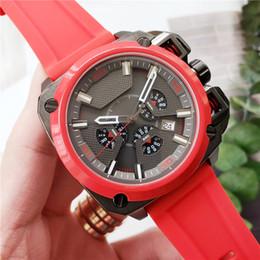 trabalhos de moda Desconto Mens relógios de luxo movimento de quartzo todos os trabalhos de discagem relógios edição de moda pulseira de silicone homens esporte relógio militar designer de relógio à prova d'água