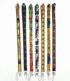 2019 lanyard id telefonhalter Neue 50PCS Reggae Bob Marley Prämie Lanyard Id Badge Holder Keychain Straps für Handy Freies Verschiffen günstig lanyard id telefonhalter