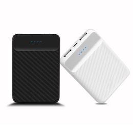 Универсальный мини-блок питания онлайн-Универсальный мини 20000 мАч Powerbank Dual USB зарядка ЖК-дисплей Power Bank Внешнее зарядное устройство Poverbank для Xiaomi