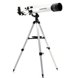 Белый штатив онлайн-Visionking 60 700 (60/700 мм) Астрономический телескоп-рефрактор White Space Луна Юпитер Наблюдение со штативом Хорошее качество