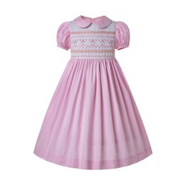 blasenkostüme Rabatt Pettigirl Summer Inexpensive Smocked Dress Für Kleinkinder Smocked Bubble Baby Kittel Pink Girl Costumes G-DMGD204-A290