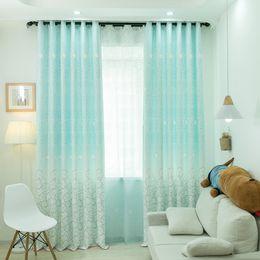2019 оптовая соломенная нить Simple Modern Coloured Narcissus Girl Heart High Shade Curtains for Living Dining Room Bedroom.