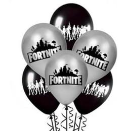 ballons spiele Rabatt Schwarzes gedrucktes Ballon-Spiel-Thema-Latex-Ballon-heißer Verkaufs-Luftballon-Geburtstagsfeier-Dekorations-Foto-Stütze-Großverkauf 100PCS