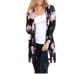 3b73f49f8033 Autumn Retro Floral Kimono Long Sleeve Chiffon Blouse Casual Loose Beach  Wear Cover Up Maxi Shawl Cardigan Jacket Plus Size Tops