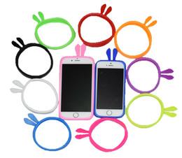 Handy-gehäuse ohren online-Universal Silikon iPhone, Samsung Bunny Ears Handyhülle Bumper Soft Cover