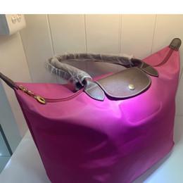 Maniglie per borse per la spesa online-Manico lungo Lady Fashion Handbag grande capacità pratica Borse a tracolla Shopping Tote impermeabile i sacchetti di acquisto di nylon per le donne 2019