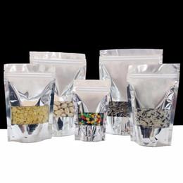 sceau d'argent en aluminium Promotion Le zip-lock tiennent des sacs d'emballage de papier d'aluminium d'argent de soudure à chaud de mylar à chaud avec la fenêtre LX1409