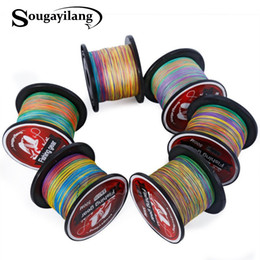 fishing floats materials Coupons - Sougayilang Braid Fishing 0.4-8# Braided Fishing Line Super Strong Multicolour Pe Material Line Multifilamento 500 M