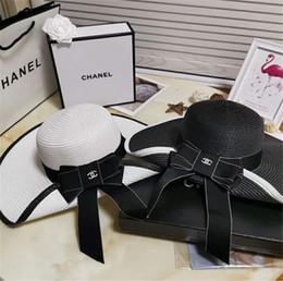 Wholesale Dropshipping venda Quente ampla Brim chapéus de sol para as mulheres Carta Bordado de palha Chapéus meninas Não Perturbe Senhoras chapéus de Palha