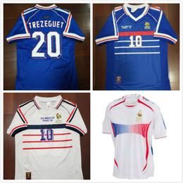 1998 FRANCE RETRO VINTAGE ZIDANE HENRY MAILLOT DE FOOT soccer jerseys  uniforms Football Jerseys shirt white away finals 2006 white 4ba3c9d93