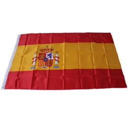 Vôo espanhol on-line-90x150cm espanhol da bandeira de Eagle 100% Poliéster suspensão vôo Spain Flag Início decorativas Bandeiras nacionais e bandeiras da Espanha