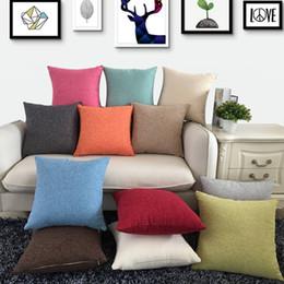2019 flores rojas ropa de cama verde 45cmx45cm 40cmx40cm Algodón Lino Funda de almohada sublimación sólida cubierta de almohadas espacios en blanco para DIY prensa del calor de la impresión 08