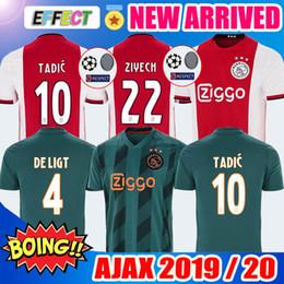c240195b4 19 20 AJAX FC soccer jerseys DE JONG TADIC DE LIGT ZIYECH VAN BEEK NERES  MEN KIDS Thailand 2019 2020 Netherland champions football kit shirt miami  dolphins ...
