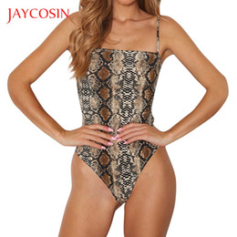 costume imprimé léopard Promotion JAYCOSIN Femmes Sexy Body Léopard Imprimé Camis Jumpsuit Justaucorps Top Bodycon Barbotage Sexy Inner Beach Costume 2019new Sauvage