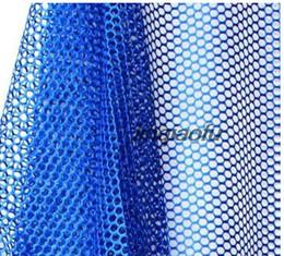Artigos de vestuário esportivo on-line-Resistente vestuário em malha saco de escola saco de tecido DIY manual de artigos de desporto de malha de rede de tecido brilhante