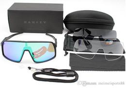 Gafas deportivas transparentes online-OO9406 Gafas de ciclismo Sutro Hombres Moda Gafas de sol polarizadas TR90 Gafas de deporte para correr al aire libre 8 Coloridas, Polariezed, len transparente