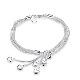 5 stücke Drop Shipping Silber Überzogene Armbänder Frauen herzförmigen  quaste Kette Luxus Marke Charme Perlen für pandora Armreif Kinder Gif pandora  winter ... 575d2381cd