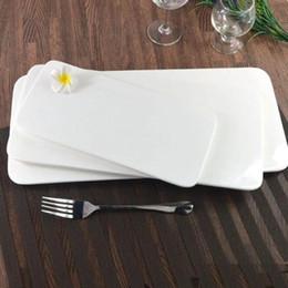 restaurantes de peixe Desconto Restaurante Melamina Grande Prato de Sushi Prato Prato de Peixe Sashimi Gimbap Rectangle Bandeja Plana QW9916