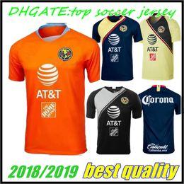 b5c031494b9f5 2018 2019 México Club América portero Orange Soccer Jersey 18 19 C.BLANCO  en casa lejos D.BENEDETTO R.SAMBUEZA O.PERALTA Uniformes de fútbol supplier  orange ...