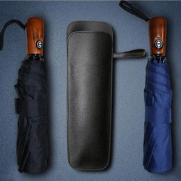 Siyah PU Deri Şemsiye Kılıfı Taşınabilir Su emici Şemsiye Saklama Cebi Çantası Toptan Hızlı Kargo ZC0725 supplier umbrella storage nereden şemsiye depolama tedarikçiler