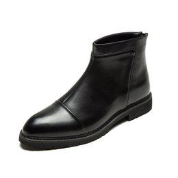 bcbbf3aa Winter Boots Men's Short Boots England High To Help Shoes In The Sleeve To  Help Men's Martin Wild Tide