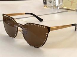 gafas sin aro para mujer Rebajas Diseñador de lujo Marca Medusa Gafas de sol 2177 Gafas de moda sin montura de ojo de gato para mujer Anti-UV400 Atmósfera de estilo simple con estuche