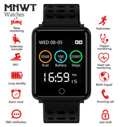 digital touch watches for men Coupons - MNWT Smartwatch IP68 Waterproof Touch Screen Sport Bluetooth Pedometer Clock Men & Women Smart Digital Watch For Android IOS Phone