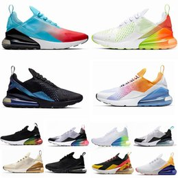 Nike air max 270 Hot punch Parra photo Bleu Hommes Femmes Chaussures de course Triple Université Blanc Rouge Olive Volt Habanero 27C Flair 270S