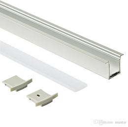 tipo de lâmpada de teto Desconto A montagem de superfície conduziu o alojamento de alumínio do perfil e a extrusão do perfil do tipo de T com tampa leitosa do PC para a lâmpada de parede do teto ou a recesso