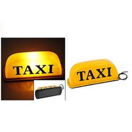 DC 12V 10-дюймовый Такси Знак Свет Водонепроницаемый Супер Яркий Такси Верх Светло-Желтый 10 Вт от