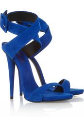 2018 новый большой размер американский синий супер высокие каблуки Peep-toe летние сандалии Office Party индивидуальные обувь Бесплатная доставка cheap shoe sandles от Поставщики ботинки для обуви
