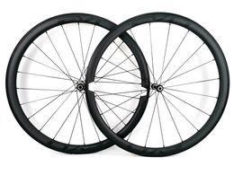 vélos d'escalade Promotion 700C super léger Roues en carbone, 38 mm de profondeur, 25 mm de largeur, Tubcher. Roues en carbone pour vélo de route, décalques EVO, finition mate