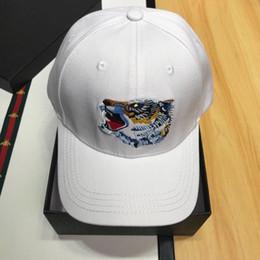 Chapéu de tigre branco on-line-Tampas de tigre de luxo moda impressão Designer Caps Mens Womens boné de beisebol ajustável chapéus branco de alta qualidade com caixa original