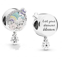 histórias de flores Desconto New Authentic 925 Sterling Silver Charme Rainbow Com Flores Prado Flor Cor História Pingente Beads Fit Pandora Pulseira Diy Jóias