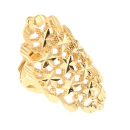 verlobungsringe dubai Rabatt Dubai Golden Ring Gold Farbe Engagement verstellbare Größe Fingerring für äthiopische afrikanische nigerianische Design