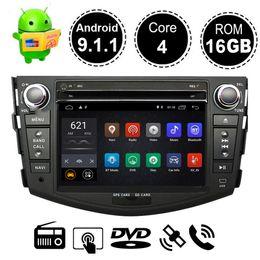 Toyota rav4 dvd gps android online-Android 9.1 Reproductor de DVD para auto Navegación GPS para Toyota RAV4 Rav 4 2007 2008 2009 2010 2011 Radio Estéreo Multimedia