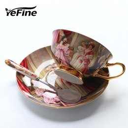 3fc038cd1eb Yefine High Quality Bone Porcelain Coffee Cups Vintage Ceramic Cups  On-glazed Advanced Tea Cups And Saucers Sets Luxury Gifts J190722