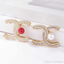 Habille des broches perlées en Ligne-2019 Date Broche pour les femmes délicate broche avec perle strass élégante épinglette pour robe bijoux
