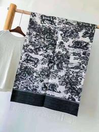 2019 grauer fransenschal Hochwertige Mode Herbst und Winter Marke Kaschmir Schals zeitlos klassisch super lange Schal Mode Frauen weichen Animal-Print Schals