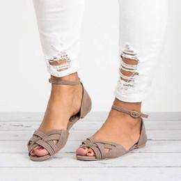 112e09da6f057 Discount sexy silver flat sandals - Summer Women Flats Sandals Gladiator  Sexy Open Toe Buckle Strap