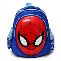 2dbf8096779 4-6 años de edad niño animal mochila kindergarten para niños diseño de moda  bolsos azules azules niños spiderman mochila