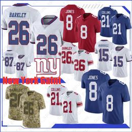 2020 футбол eli manning 8 Daniel Jones Нью-Джерси Йорк Gaint 26 Saquon Barkley Джерси 87 Sterling Shepard 10 Эли Мэннинг Лучшего качество футбол рубашка NEW скидка футбол eli manning