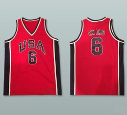 2fdb0605a 1984 Olympic USA Team Dream Patrick Ewing  6 Retro Basketball Jersey Mens  Stitched Custom Any Number Name Jerseys. Supplier  yufan5