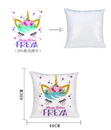 Cuscini personalizzati online-Paillettes Mermaid Copricuscino Cushion magici Nuova sublimazione paillettes federe vuote di trasferimento a caldo stampa gif personalizzate personalizzati fai da te