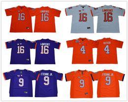 16 Trevor Lawrence  13 Hunter Renfrow  2 Kelly Bryant  4 Deshaun Watson  Orange Purple White Color College Stitched Jerseys Free Shipping cd50da36b