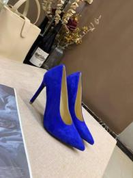 2019 последние одиночные туфли новые высокие каблуки синий ретро шелковая атласная кожа подошва Женские туфли на высоком каблуке Высокий: 10 см Размер: 34-41 от Поставщики синие шелковые каблуки