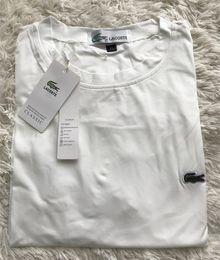 Top brand t shirts men famous on-line-Lac crocodilo bordado famosa marca casual mens o-pescoço t camisas dos homens da moda tops logotipo T-shirt de manga curta homens tshirt 2019