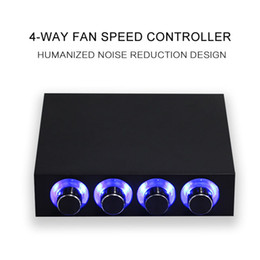 Controlador del ventilador caja de la computadora online-Fan Hub Speed Controller Regulator 4 Way 4 Knobs Speeder para caja de computadora NK-Shopping